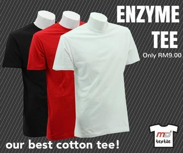 Enzyme Washed Roundneck T Shirt
