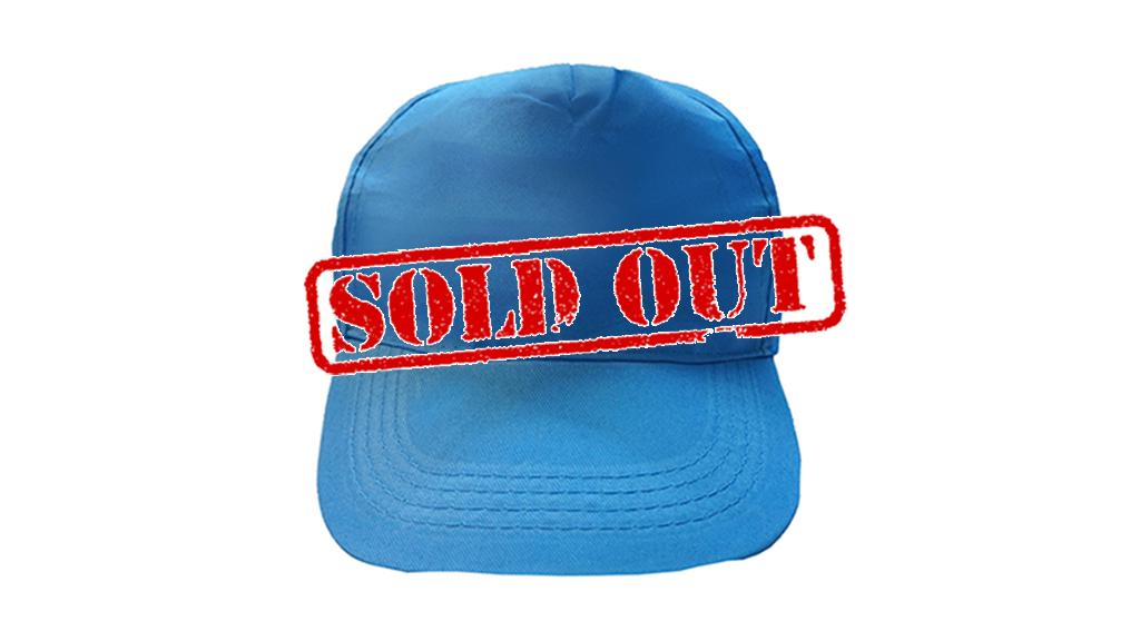 sold out velcro strap cap turquoise