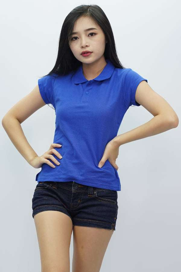 Ladies Polo T Shirt Royal Blue