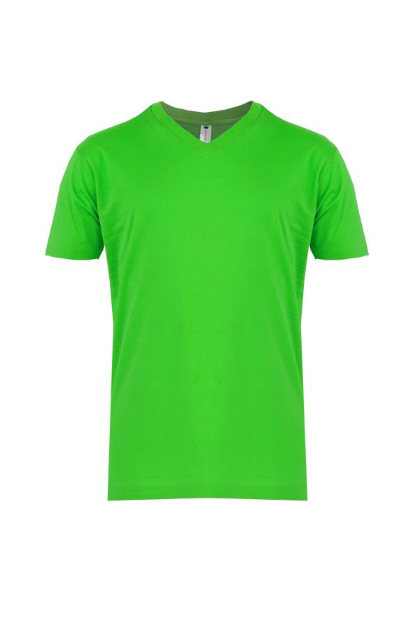 V Neck T Shirt AppleGreen