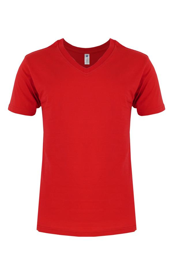 V Neck T Shirt Red