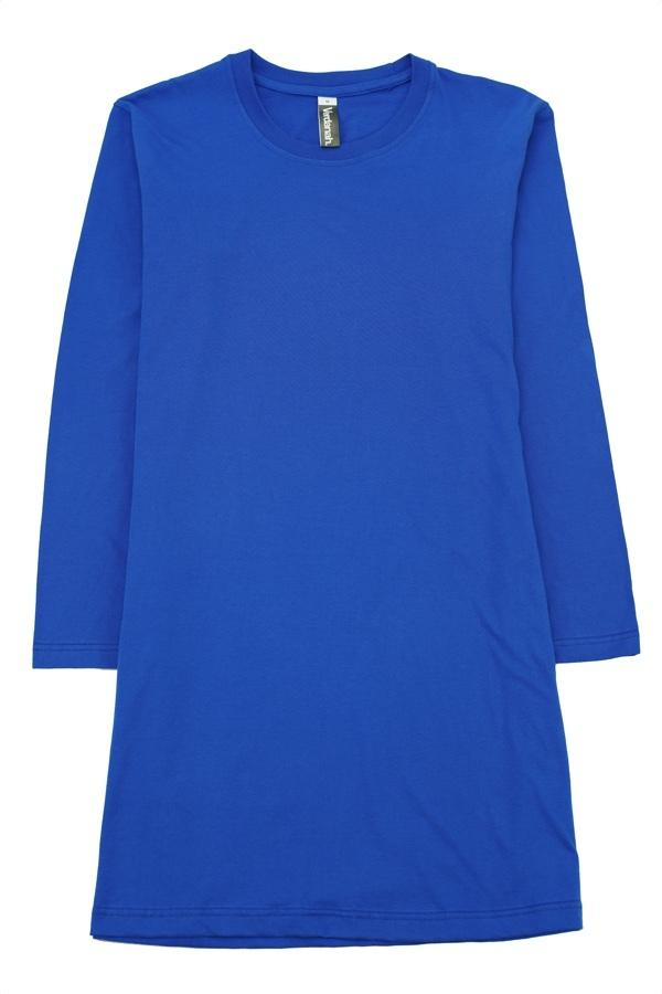 fullycombed cotton muslimah t shirt royalblue