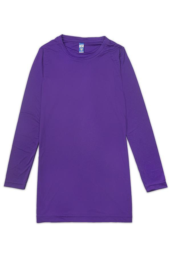 vivid fit ladies dress purple