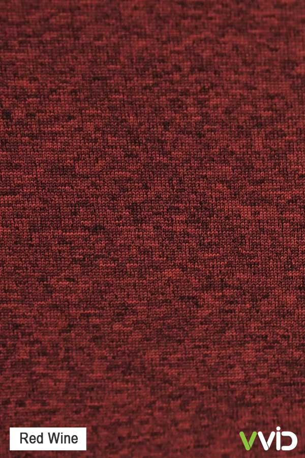 heather supercool microfiber red wine tshirt closeup