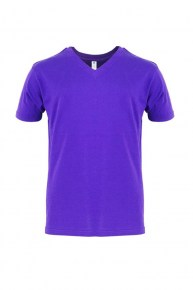 V-Neck-Purple-Tshirt