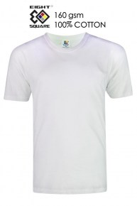 Eightsquare Round Neck T-Shirt - White