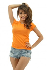 ladies-orange-roundneck