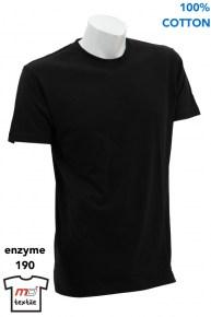 Enzyme Washed Red Round Neck T-Shirt