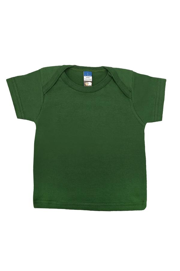 Baby Envelope Neck T-Shirt Bottle Green