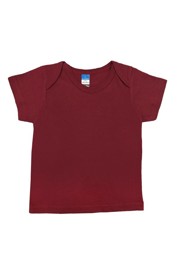 Baby Envelope Neck T-Shirt Burgundy