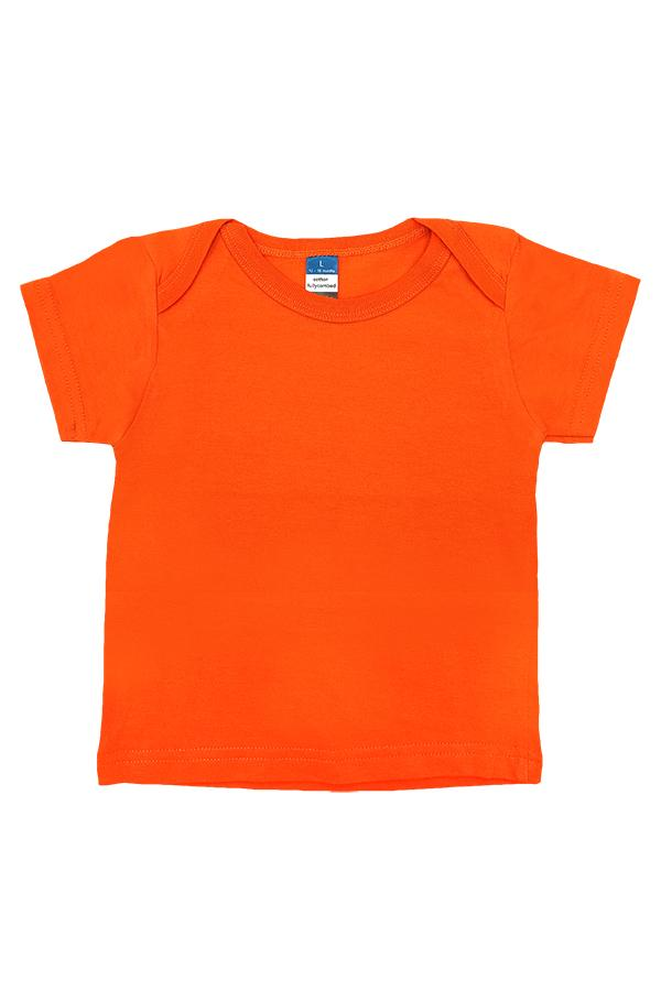 Baby Envelope Neck T-Shirt Orange