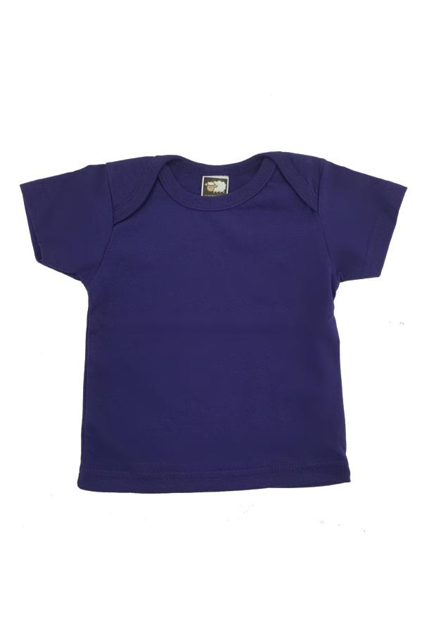 Baby Envelope Neck T-Shirt Purple