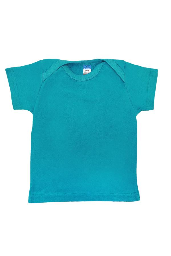 Baby Envelope Neck T-Shirt Turquoise