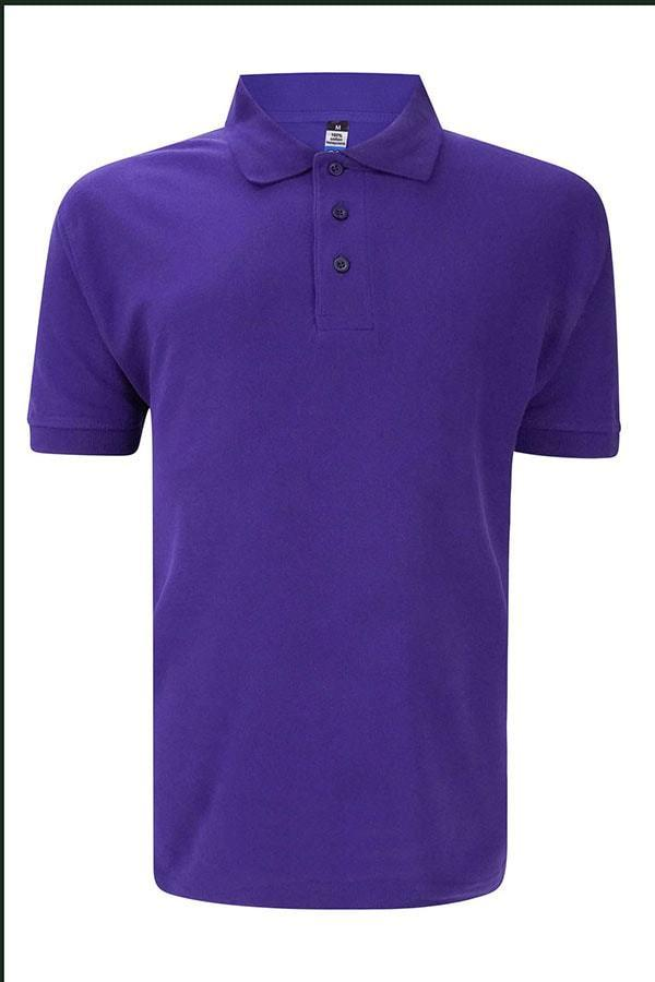 Basic Foursquare Cotton Honeycomb Polo - Purple