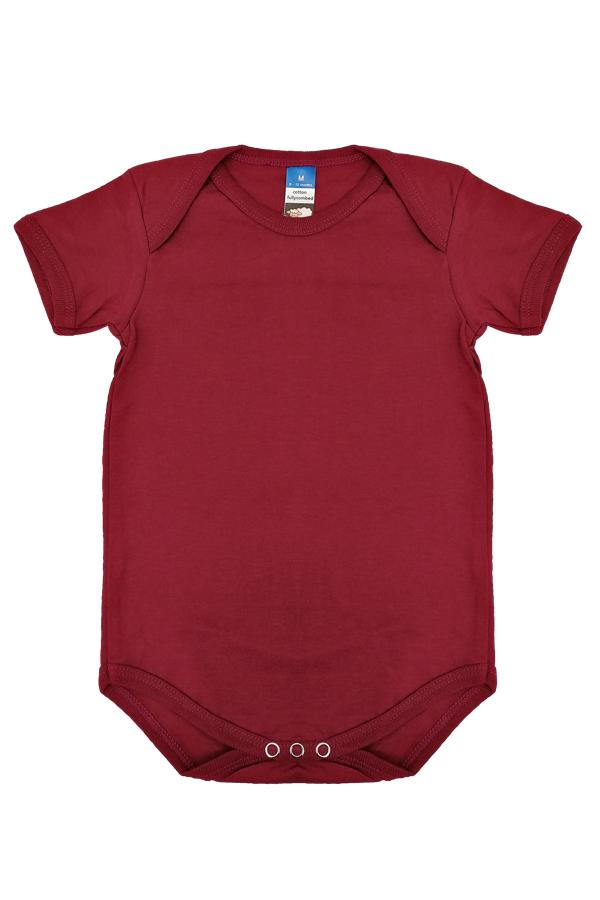 Burgundy Cotton Rompers