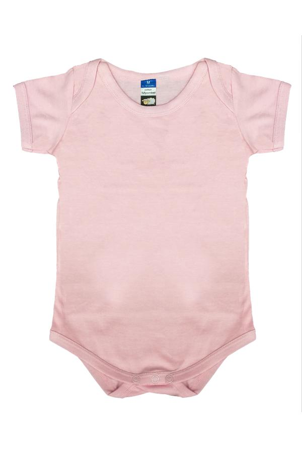 8a2a705edfc Fullycombed Cotton Basic Rompers-Pink (M)