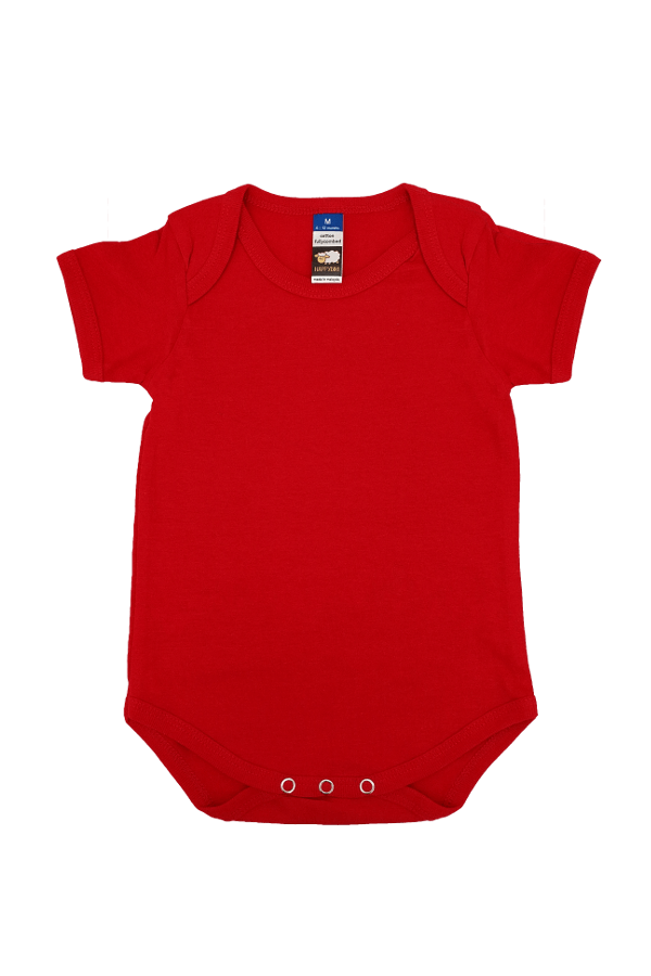 244a00eb886 Fullycombed Cotton Basic Rompers-Red