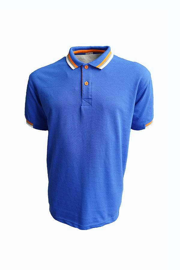 Casual HC Polo Royal Blue / Orange / Grey