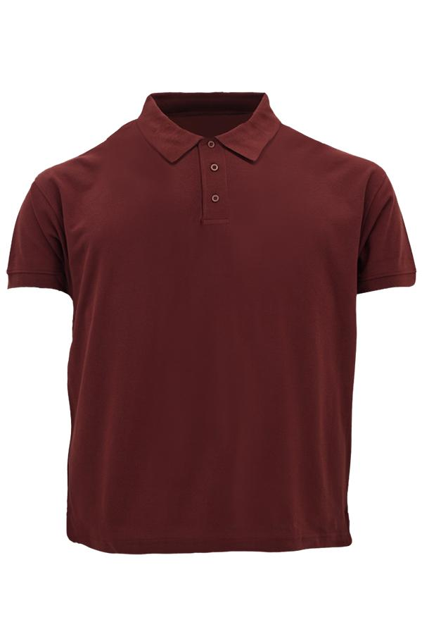 MD Polo Plus Size Burgundy