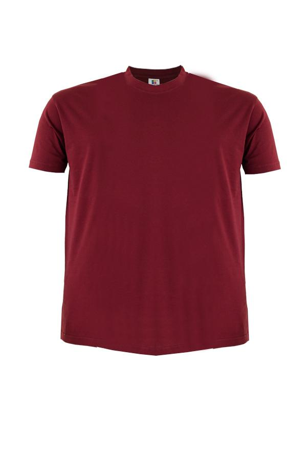 Cotton-Plus-Size-T-Shirt-burgundy