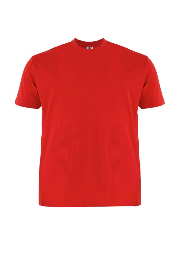 Cotton-Plus-Size-T-Shirt-red