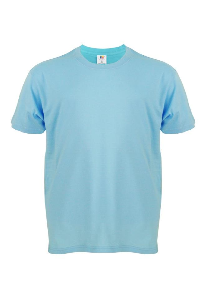 Cotton-Plus-Size-T-Shirt-sky-blue
