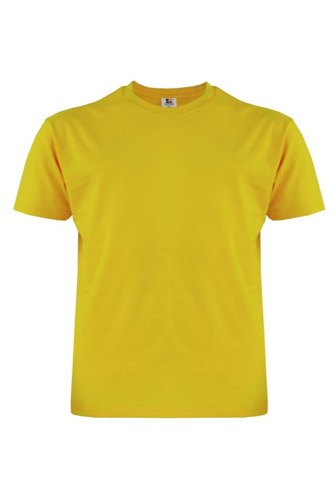 Cotton-Plus-Size-T-Shirt-yellow