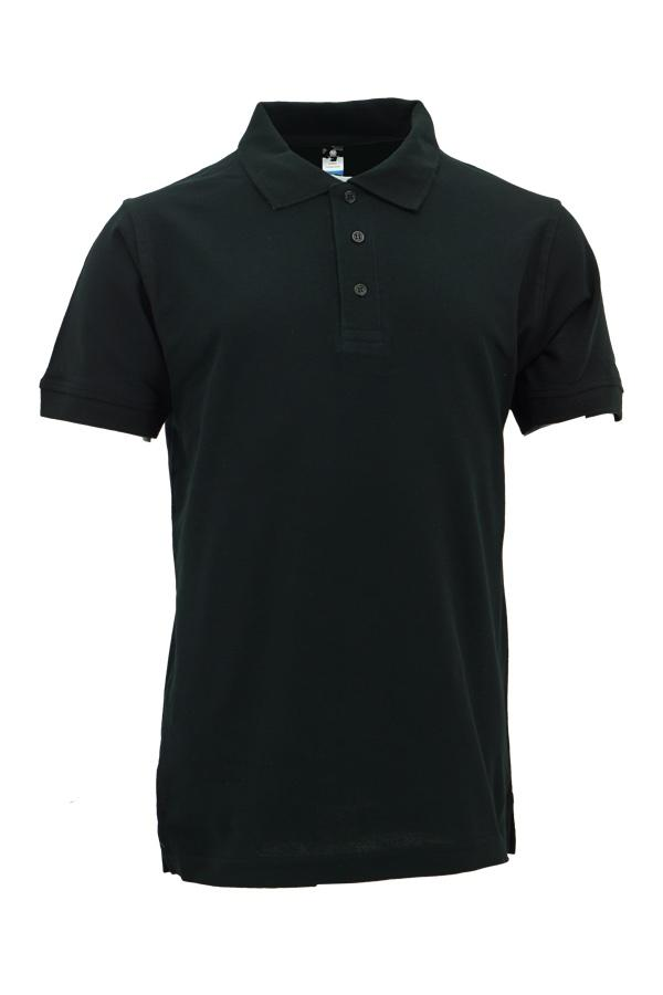 Basic 100% Cotton Honeycomb Polo Black