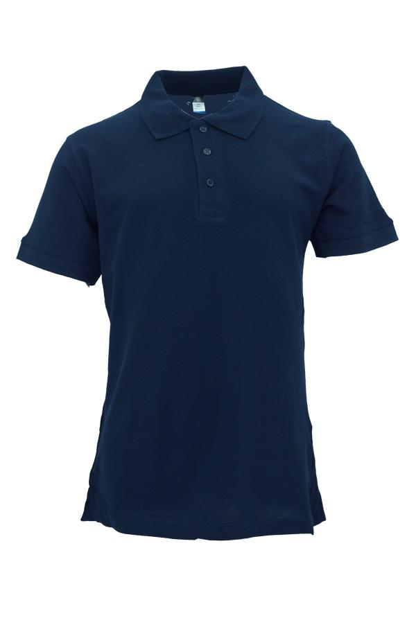 Basic 100% Cotton Honeycomb Polo Navyblue