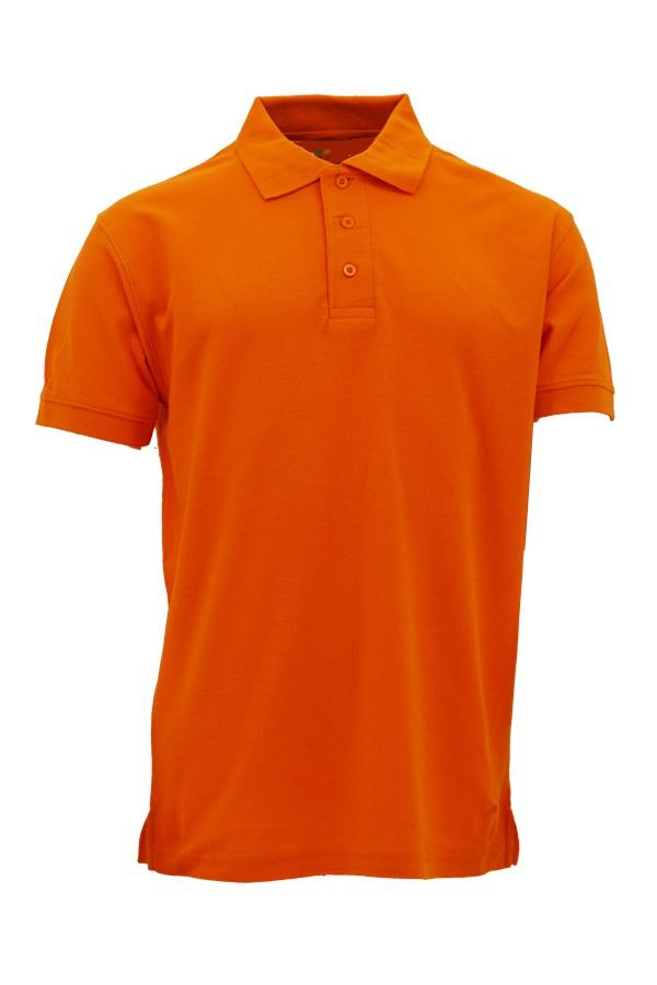 Basic 100% Cotton Honeycomb Polo Orange