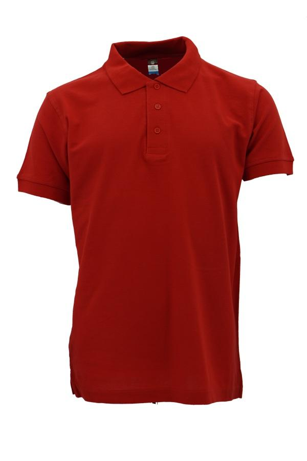 Basic 100% Cotton Honeycomb Polo Red