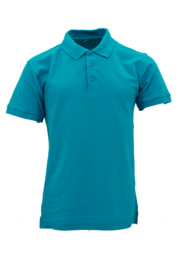 Basic 100% Cotton Honeycomb Polo Turquoise