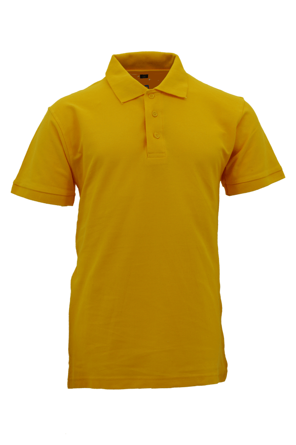 Basic 100% Cotton Honeycomb Polo Yellow