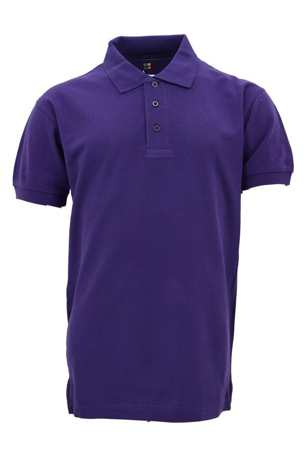 Basic 100% Cotton Honeycomb Polo Purple