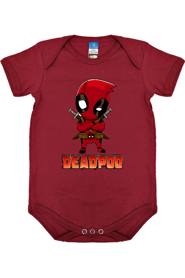 Dead pool Parody - Dead Pool Baby Rompers - Burgundy