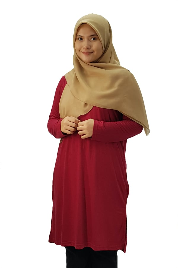 Emrif Long Dress Ladies - Burgundy