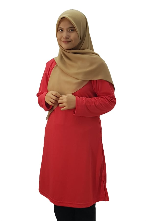 Feathersoft Muslimah T-shirt - Red