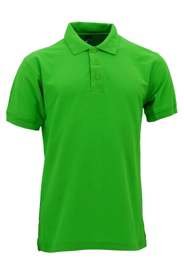 Basic Foursquare Cotton Honeycomb Polo - Apple Green
