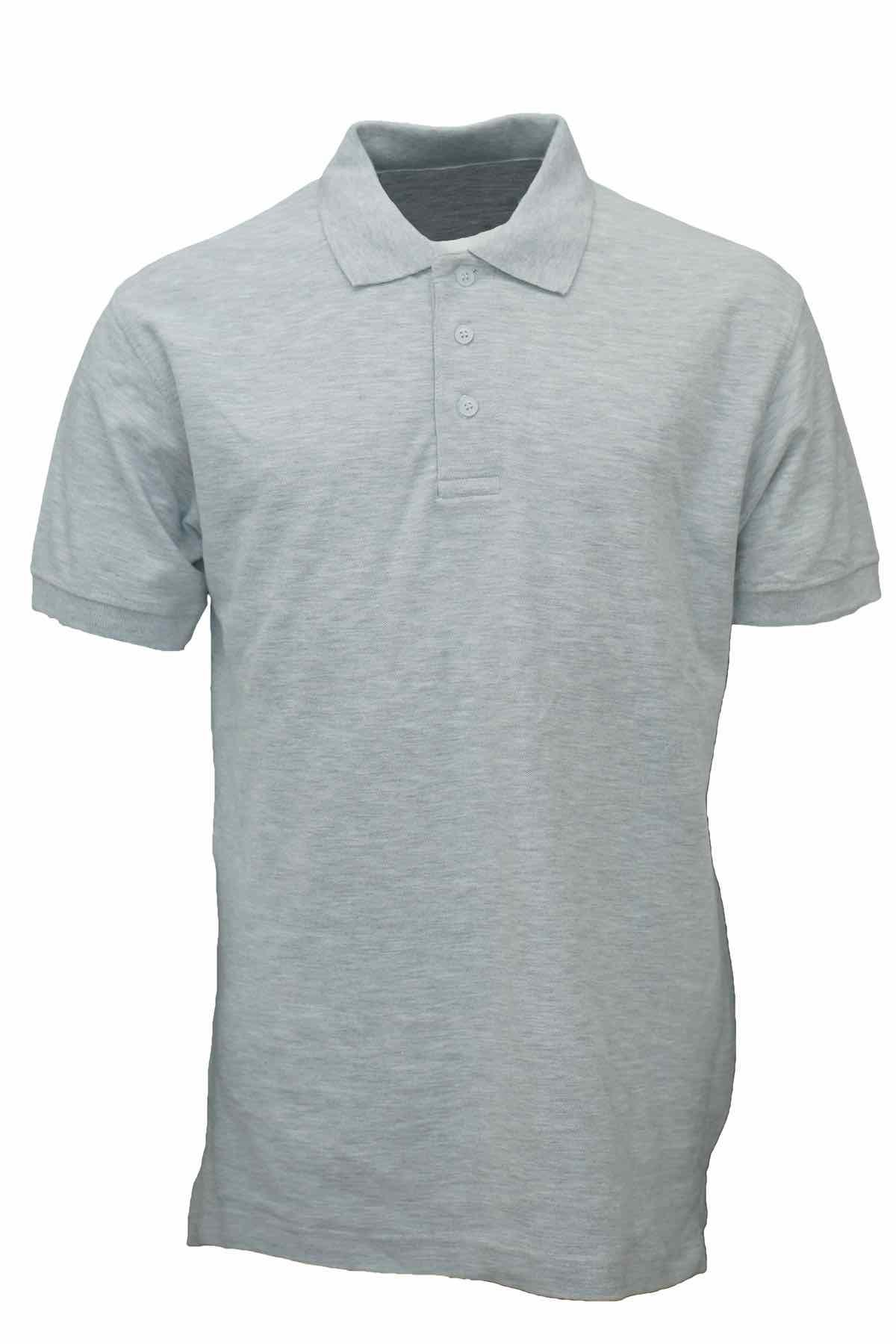 Basic Foursquare Cotton Honeycomb Polo - Ash Grey