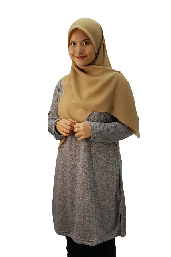 Muslimah Heather - Graphite Grey