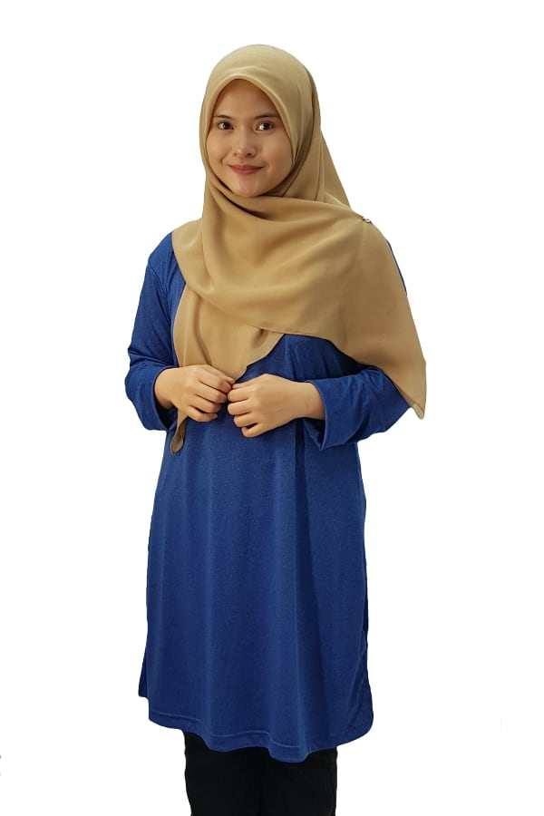 Muslimah Heather - Cobalt Blue