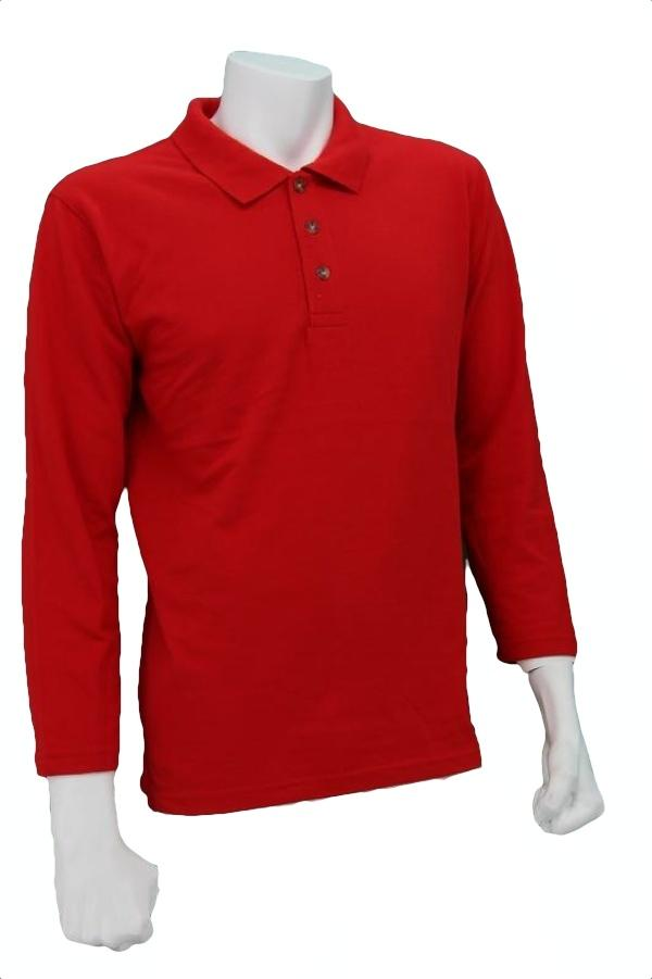 Oren Sport Polo Long Sleeve T-Shirt <Red>
