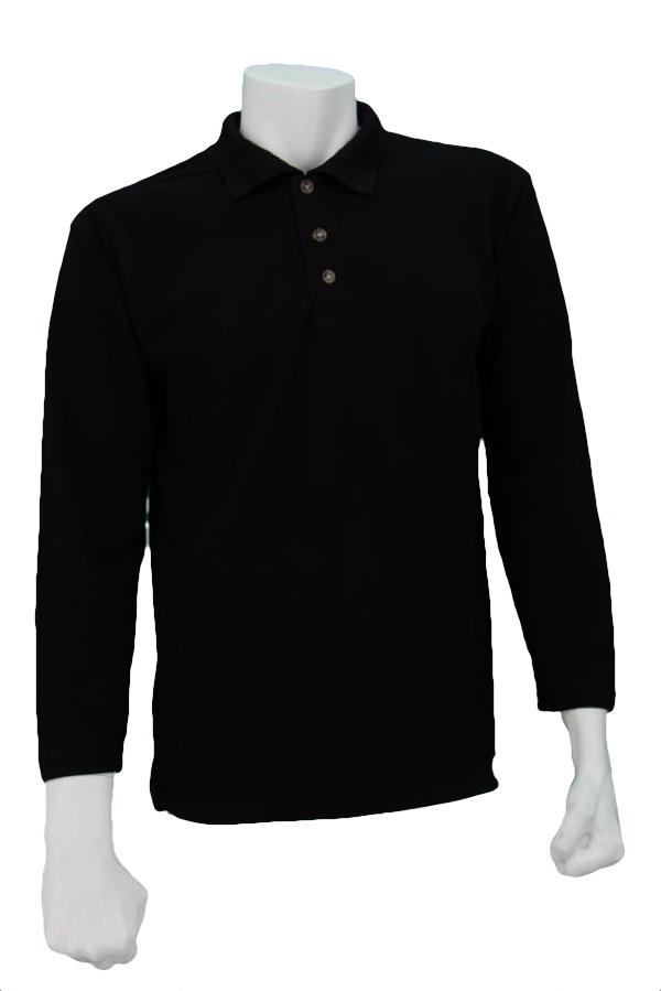 Oren Sport Polo Long Sleeve T-Shirt <Black>