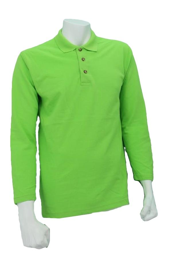 Oren Sport Polo Long Sleeve T-Shirt  <Apple Green>