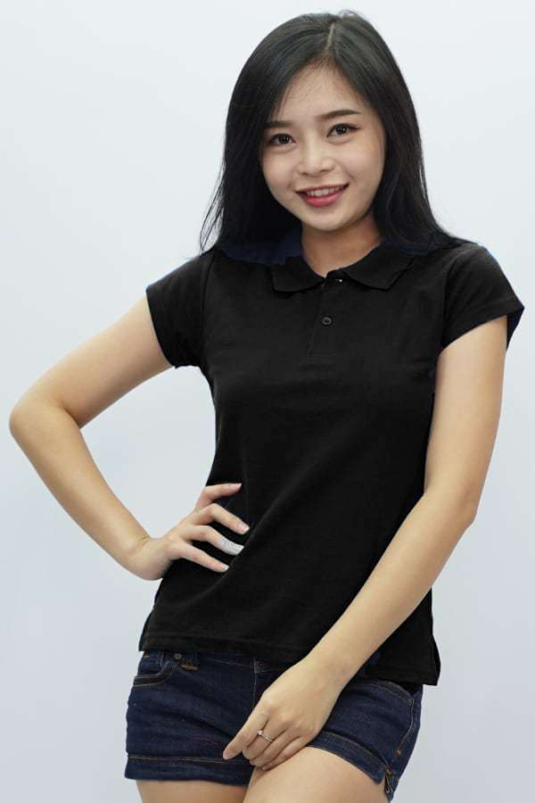 MD Ladies Polo Black