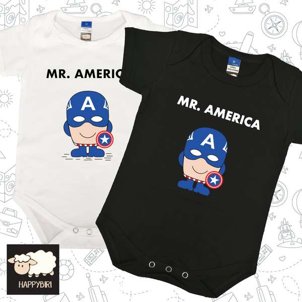 MR.Captain America Baby Romper