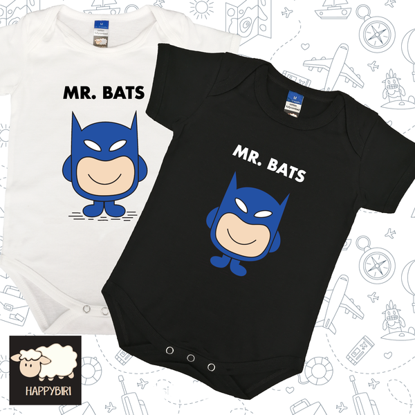 MR. Bat Baby Romper
