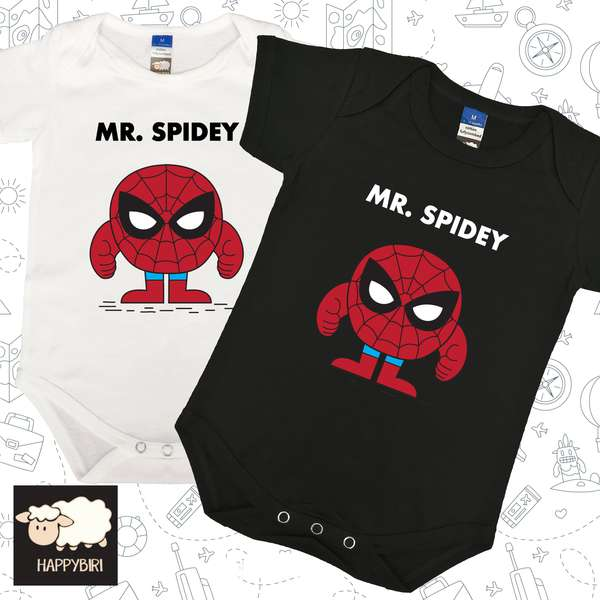 MR.Spidey Baby Romper