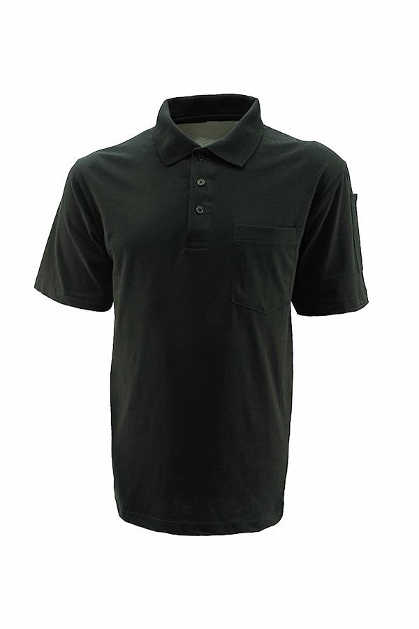 Technician's Polo T-Shirt With Pocket - Black
