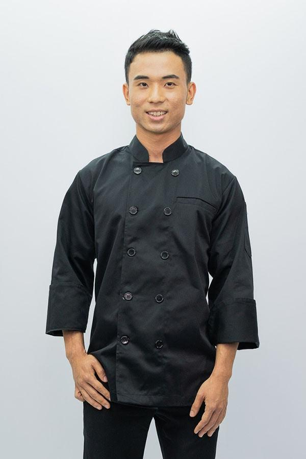 Chef Coat Classic Long Sleeve - Black